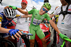 July 11, 2017 - Bergerac, France - German MARCEL KITTEL of Quick-Step Floors celebrates after winning the tenth stage of the 104th edition of the Tour de France cycling race, 178km from Perigueux to Bergerac. (Credit Image: © David Stockman/Belga via ZUMA Press)