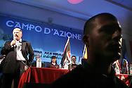 Campo d'Azione 2006 di Forza Nuova a Marta : Udo Voigd (NPD)  leader dell'estrema destra in Germania meeting of forza nuova, raduno forza nuova