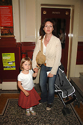 DERVLA KIRWAN with her daughter FLORENCE PENRY-JONES at a children's ballet workshop and tea party to celebrate the world premiere of 'Angelina's Star Performance' Angelina Ballerina's first real life ballet hosted by the National Ballet at the New Wimbledon Theatre, London SW19 on 6th September 2007.<br /><br />NON EXCLUSIVE - WORLD RIGHTS