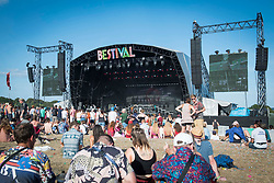General view of the Castle Stage during Bestival 2018 at Lulworth Castle - Wareham. Picture date: Saturday 4th August 2018. Photo credit should read: David Jensen/EMPICS Entertainment