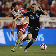 Pablo Alvarez, NYCFC, in action during the New York Red Bulls Vs NYCFC, MLS regular season match at Red Bull Arena, Harrison, New Jersey. USA. 10th May 2015. Photo Tim Clayton