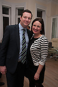 CAMILLA FORD; THOMAS ROGERS, Drinks party given by Basia and Richard Briggs,  Chelsea. London. SW3. 13 February 2014.