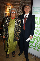 Left to right, LORD DESAI and LORD EATWELL at the annual House of Lords and House of Commons Parliamentary Palace of Varieties in aid of Macmillan Cancer Support held at St.John's Smith Square, London W1 on 1st February 2007.<br />