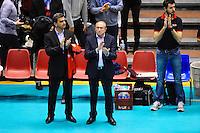 Krassi Todorov / Gerard Collomb - 14.03.2015 - Lyon / Paris - 24e journee Ligue A<br /> Photo : Jean Paul Thomas / Icon Sport