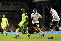 LONDON, ENGLAND - MAY 14:LONDON, ENGLAND - MAY 14:Derby's Andre Wisdom comes under pressure from Fulhams Aleksandar Mitrovic