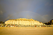 Rainbow over the Bluffs at Calafia State Beach in San Clemente