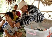 Dr. David Mar Naw in remote hill tribe village, Thailand