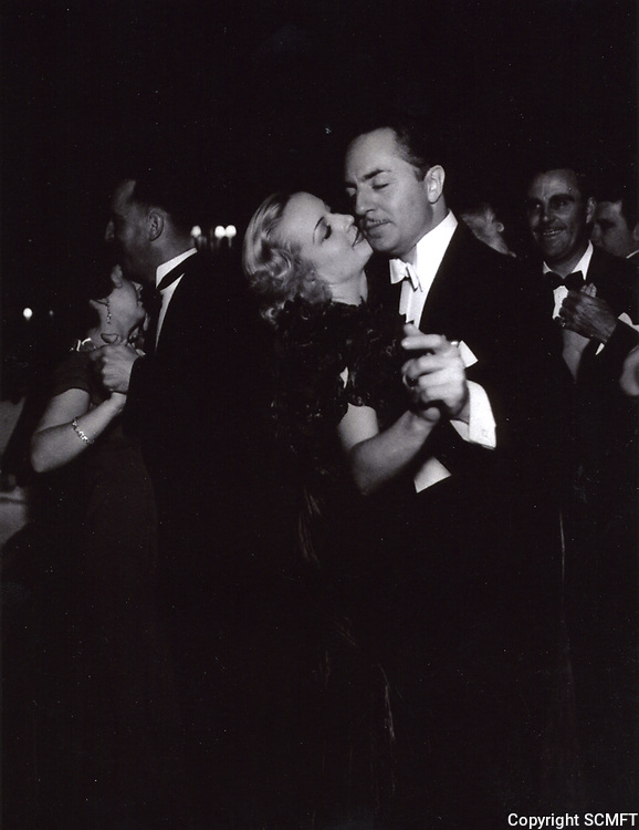1940 Carole Lombard and William Powell dancing at Ciro's