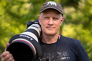 Photographer Staffan Widstrand with SONY gear, Malingsbo-Kloten nature reserve, Vastmanland, Sweden