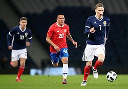 Scotland's Scott McTominay (right) during the international friendly match at Hampden Park, Glasgow.