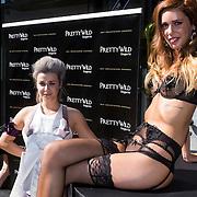 NLD/Amsterdam/20130905 - Lancering lingerielijn Pretty Wild, Victoria Koblenko met lingeriemodel