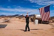 14 AUGUST 2003 - AJO, ARIZONA:  A US Border Patrol forward operating camp in the Organ Pipe National Monument, southwest of Ajo, AZ.   PHOTO BY JACK KURTZ