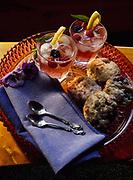 Berry lemonade with blackberry scones made by Chef Kirsten Dixon, Winterlake Lodge, Finger Lake, Alaska.