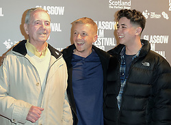 "Glasgow Film Festival, Sunday 3rd March 2019<br /> <br /> UK Premiere of ""Beats""<br /> <br /> Pictured: Director Brian Welsh (Centre) with his grandad and son.<br /> <br /> Alex Todd 