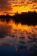 Crow Lake at sunset<br />