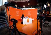 EINDHOVEN, 26-04-2021, High Tech Campus<br /> <br /> Alles klaar voor Koningsdag 2021 in Eindhoven op de High Tech Campus in Eindhoven Foto: Brunopress/Patrick van Emst<br /> <br /> Op de foto:  Orange Room