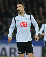 Football - 2016 / 2017 FA Cup - Fourth Round, Replay: Leicester City vs. Derby County<br /> <br /> Jason Shackell of Derby at King Power Stadium.<br /> <br /> COLORSPORT/ANDREW COWIE