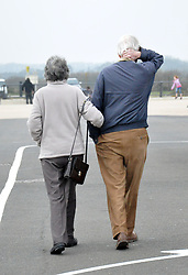 """File photo dated 02/04/16 of two pensioners walking. A """"dramatic"""" increase in the number of older cohabiting couples could lead to more people missing out on valuable tax breaks and state pension rights, analysis by an insurer suggests."""