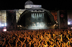 The Chemical Brothers<br /> perform live in Trafalgar Square as part of Becks Fusions 2007<br /> <br /> <br /> Photograph by Elliott Franks