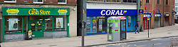 High Street betting shops and Payday Loan company, Fitzalan Square, Sheffield
