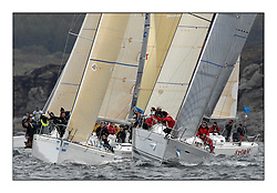 Brewin Dolphin Scottish Series 2011, Tarbert Loch Fyne - Yachting - Day 1 of the 4 day series...IRL3504, Wardance, P. Lowry/B. Reddington, CCC/Cushendall S&BC First 35 and FRA37296, Salamander Team Sunbird, Chris Dodgshon, Fairlie YC