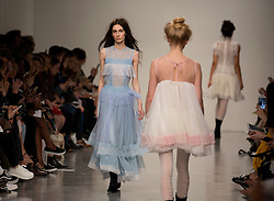 Models on the catwalk during the Bora Aksu Autumn/Winter 2017 London Fashion Week show at BFC Show Space, London. PRESS ASSOCIATION. Picture date: Friday February 17, 2017. Photo credit should read: Isabel Infantes/PA Wire