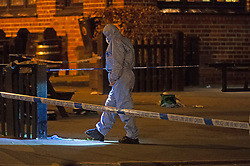 ©Licensed to London News Pictures 25/07/2020     <br /> Chislehurst, UK. Forensics on scene. Police have cordoned off the Gordon Arms pub in Chislehurst, South East London after reports of two men being stabbed. Forensic officers are at the scene. Police were called at 20:52hrs on 24.07.20. Photo credit: Grant Falvey/LNP