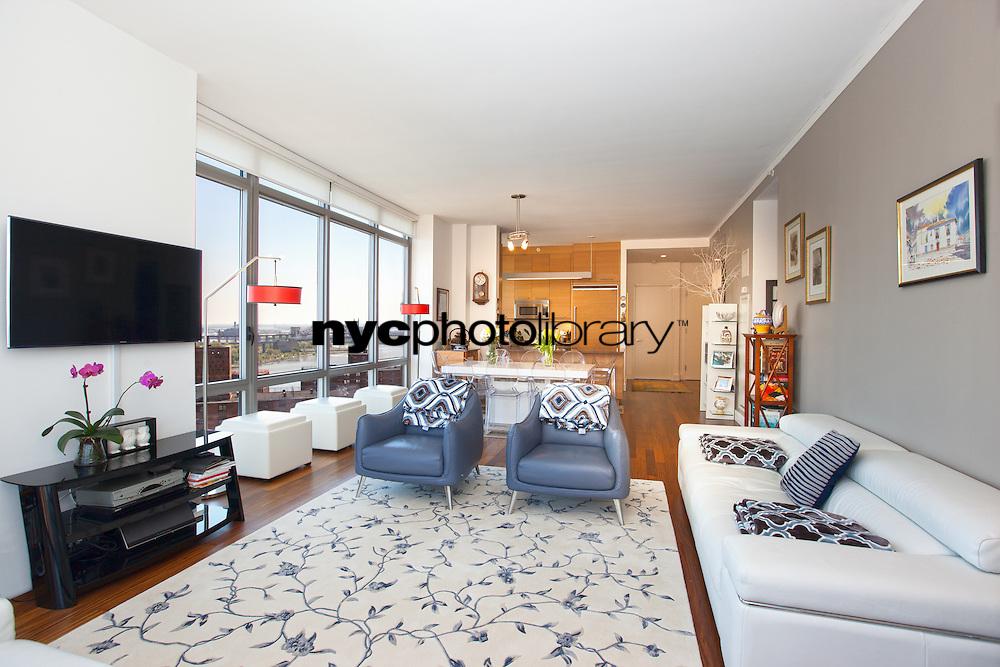 Living Room at 333 East 91st Street