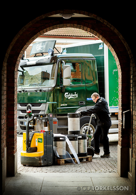 Pictures for Mercedes Benz trucks and their client Carlsberg.<br /> Photo Ola Torkelsson ©
