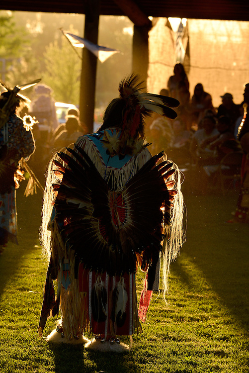 Dancing at the Tamkaliks Pow Wow in the Wallowa Valley of Oregon.