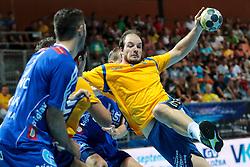 Grega Krecic of Koper during handball match between RK Celje Pivovarna Lasso and RD Koper 2013 of Super Cup 2016, on August 27, 2016 in SRC Marina, Portoroz / Portorose, Slovenia. Photo by Matic Klansek Velej / Sportida