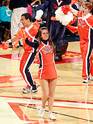 CHARLOTTESVILLE, VA- December 3: A Virginia Cavaliers cheerleader performs during the game on December 27, 2011 against the Longwood Lancers at the John Paul Jones Arena in Charlottesville, Virginia. Virginia defeated Longwood 86-53. (Photo by Andrew Shurtleff/Getty Images) *** Local Caption ***