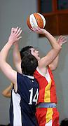 UK - Tuesday, Nov 18 2008:  Erks' Mark Denchfield gets his shot away during Barking and Dagenham Erkenwald Basketball Club's Essex Basketball League game against Brightlingsea Sledgehammers. Erks won the game 91 - 86. (Photo by Peter Horrell / http://www.peterhorrell.com)