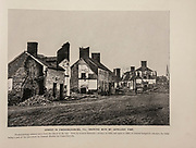 """STREET IN FREDERICKSBURG, VA., SHOWING RUIN BY ARTILLERY FIRE. from The American Civil War book and Grant album : """"art immortelles"""" : a portfolio of half-tone reproductions from rare and costly photographs designed to perpetuate the memory of General Ulysses S. Grant, depicting scenes and incidents in connection with the Civil War Published  in Boston and New York by W. H. Allen in 1894"""