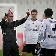 Referee's Ozguc Turkalp during their Turkey Cup matchday 3 soccer match Besiktas between Gaziantepspor BSB at the Inonu stadium in Istanbul Turkey on Wednesday 11 January 2012. Photo by TURKPIX