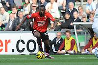 FOOTBALL - FRENCH CHAMPIONSHIP 2010/2011 - L1 - STADE RENNAIS v SM CAEN - 11/05/2011 - PHOTO PASCAL ALLEE / DPPI - ABDOULRAZAK BOUKARI (REN)
