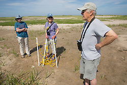 Judith, Mary, & Bob On Horseshoe Crab Survey