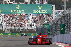 September 29, 2018 - Sochi, Russia - Motorsports: FIA Formula One World Championship 2018, Grand Prix of Russia, .#5 Sebastian Vettel (GER, Scuderia Ferrari) (Credit Image: © Hoch Zwei via ZUMA Wire)