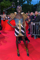 Model and designer Alek Wek arriving at the Lifeball 2017, held at Rathaus, in Vienna, Austria, on June 10, 2017. Photo by Vienna Report/ABACAPRESS.COM