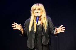 Edinburgh, Scotland, UK; 1 August, 2018. Helen Lederer appearing at press launch of Underbelly at the Edinburgh Fringe Festival