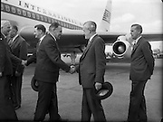 An Taoiseach Seán Lemass arrives home from London Talks..19.07.1961