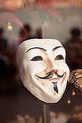 Venetian mask in a shop window. Giudecca. Venice, Italy, Europe