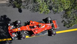 MONACO, May 28, 2017  Ferrari driver Kimi Raikkonen of Finland is seen during the qualification session of the Formula One Monaco Grand Prix in Monaco, on May 27, 2017. (Credit Image: © Michael Alesi/Xinhua via ZUMA Wire)