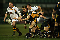 Photo: Rich Eaton.<br /> <br /> Worcester Rugby v London Wasps. Guinness Premiership. 26/01/2007. Matt Powell of Worcester passes