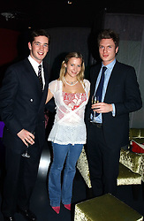 Left to right, the HON.JAMES TOLLEMACHE, LADY ROSE WINDSOR and GEORGE GILMAN at a party hosted by Panerai and the Baglioni Hotel, 60 Hyde Park Gate, London on 6th December 2004.<br /><br />NON EXCLUSIVE - WORLD RIGHTS