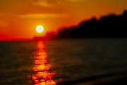 Mediterranean Sun Set. Photographed in the Aegean Sea, Alexandroupoli,  Macedonia, Greece