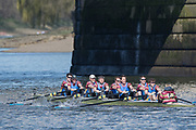 Mortlake/Chiswick, GREATER LONDON. United Kingdom. St Edward's Martyrs BC. MasB.8+, competing in the 2017 Vesta Veterans Head of the River Race, The Championship Course, Putney to Mortlake on the River Thames.<br /> <br /> <br /> Sunday   26/03/2017<br /> <br /> [Mandatory Credit; Peter SPURRIER/Intersport Images]