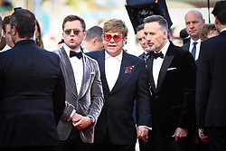 David Furnish, Sir Elton John, Taron Egerton, Richard Madden attend the screening of Rocketman during the 72nd annual Cannes Film Festival on May 16, 2019 in Cannes, France Photo by Shootpix/ABACAPRESS.COM