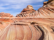 Sandstone folding in the area of  The Wave, Vermilion Cliffs National Monument, Arizona.