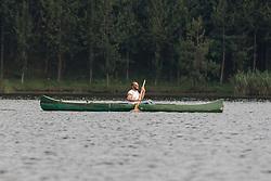 Ruben Rassi Canoeing On Lake Mutanda